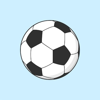 Ilustración fresca del deporte del fútbol del balón de fútbol
