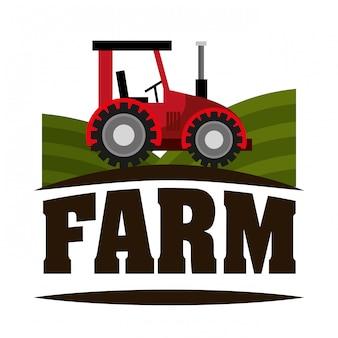 Ilustración fresca de granja