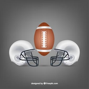 Ilustración de fútbol americano vector gratuito