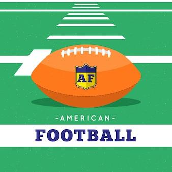 Ilustración de fútbol americano