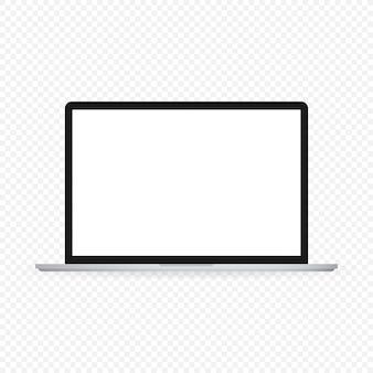 Ilustración de gadget aislado portátil computadora portátil moderna smartphone sobre un fondo blanco.