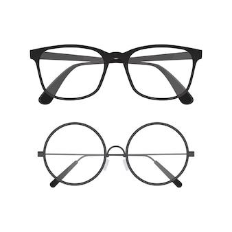 Ilustración de gafas aislado en blanco