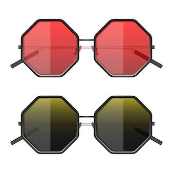 Ilustración de gafas de sol hipster aislado sobre fondo blanco