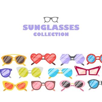Ilustración gafas de sol iconos de fondo