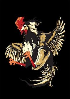 Ilustración de gallo