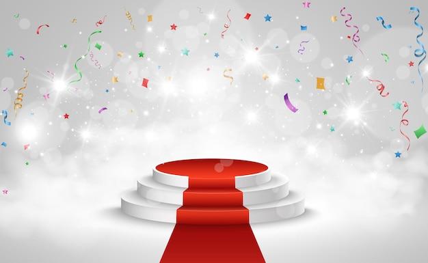 Ilustración para los ganadores del premio pedestal o plataforma para honrar a los ganadores del premio