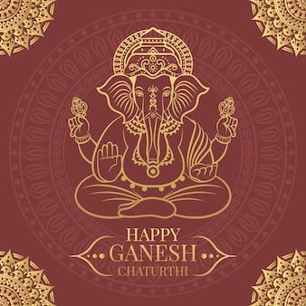Ilustración de ganesh chaturthi feliz