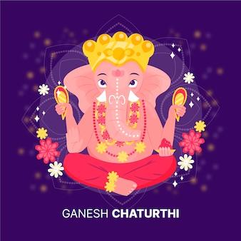 Ilustración de ganesh chaturthi