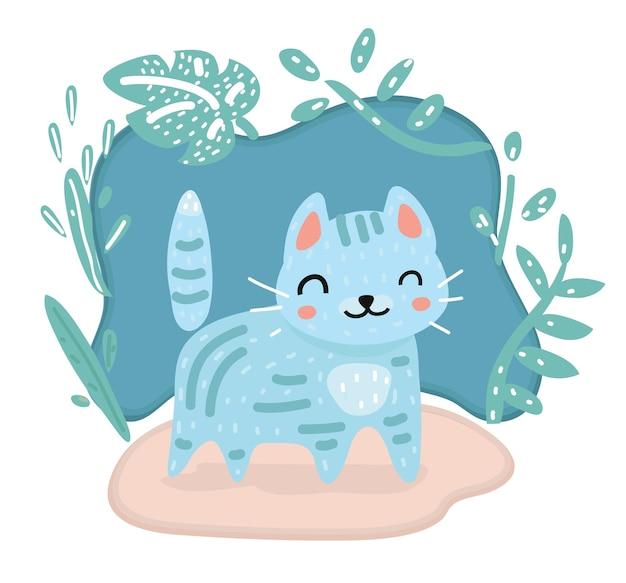Ilustración de gato de dibujos animados