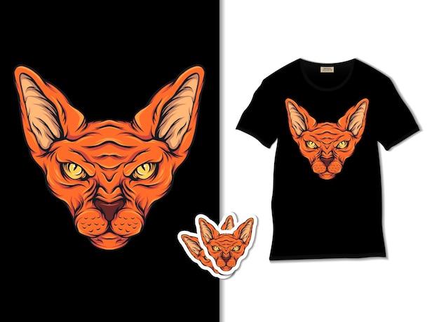 Ilustración de gato esfinge