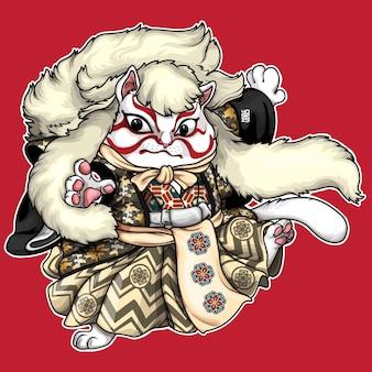 Ilustración del gato kabuki