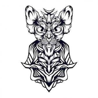 Ilustración de gato real