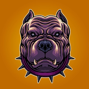 Ilustración genial de pitbull