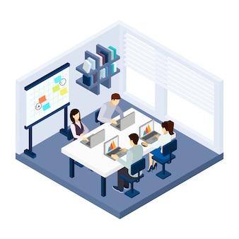 Ilustración de gente de coworking
