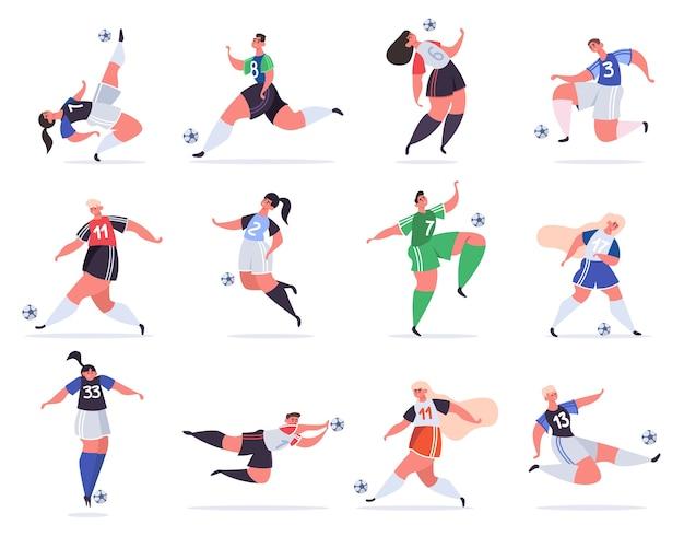 Ilustración de gente de fútbol deportivo