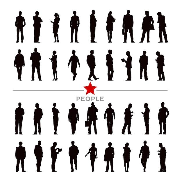 Ilustración de gente de negocios