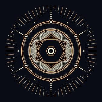 Ilustración geométrica celestial sagrada