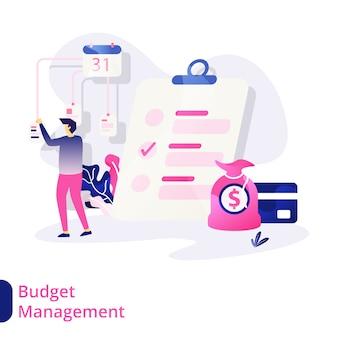 Ilustración de gestión presupuestaria