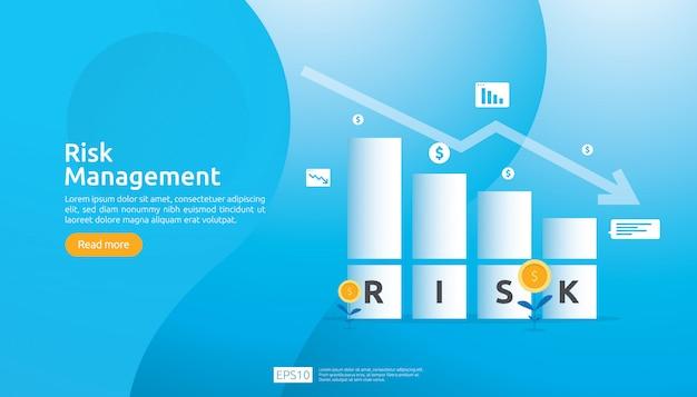 Ilustración de gestión de riesgos
