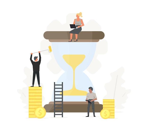 Ilustración de gestión del tiempo empresarial