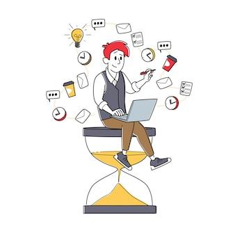 Ilustración de gestión del tiempo