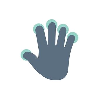 Ilustración del gesto de la mano de la pantalla táctil