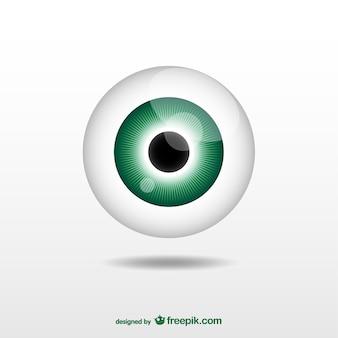 Ilustración de globo ocular