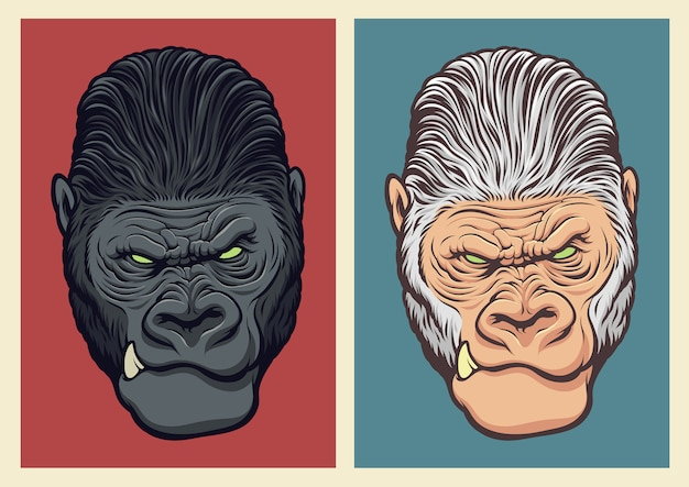 Ilustración de gorila albino