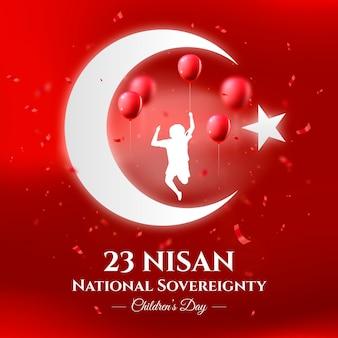 Ilustración de gradiente 23 nisan