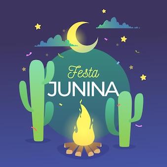 Ilustración de gradiente de festa junina