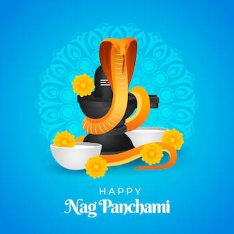Ilustración de gradiente nag panchami