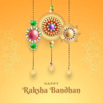 Ilustración de gradiente raksha bandhan