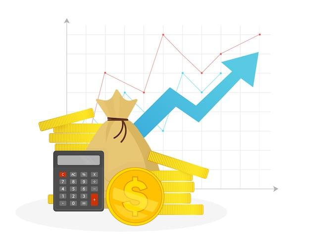 Ilustración de gráfico de inversión