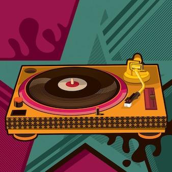 Ilustración de gramófono