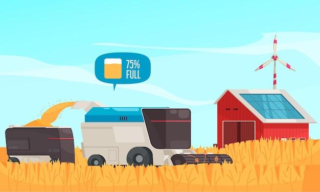 Ilustración de granja inteligente
