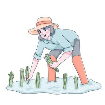 Ilustración de granjero