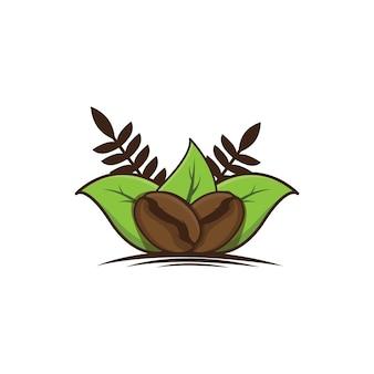 Ilustración de granos de café