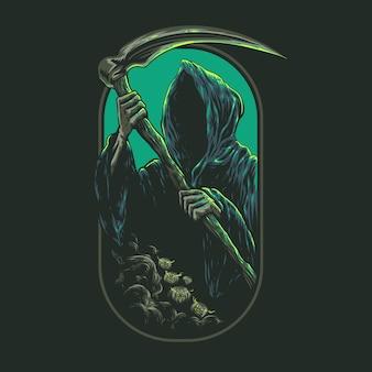 Ilustración de grim reaper