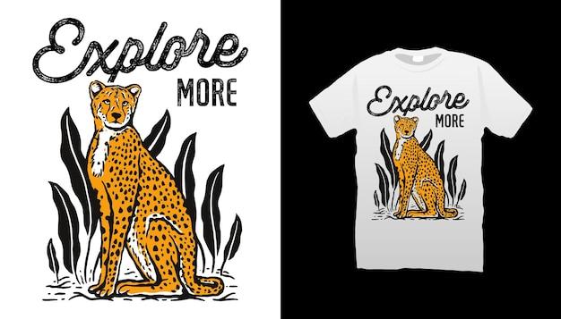 Ilustración de guepardo