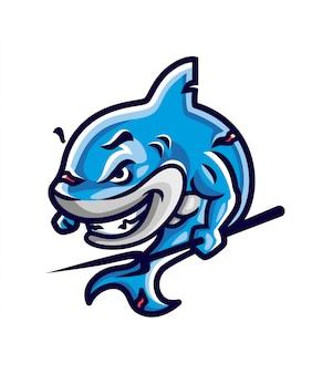 Ilustración de guerrero tiburón