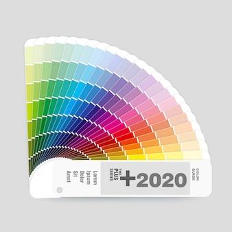 Ilustración de la guía de paleta de colores rgb para diseño gráfico y web