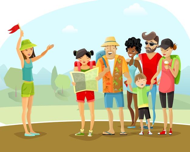 Ilustración de la guía de vacaciones