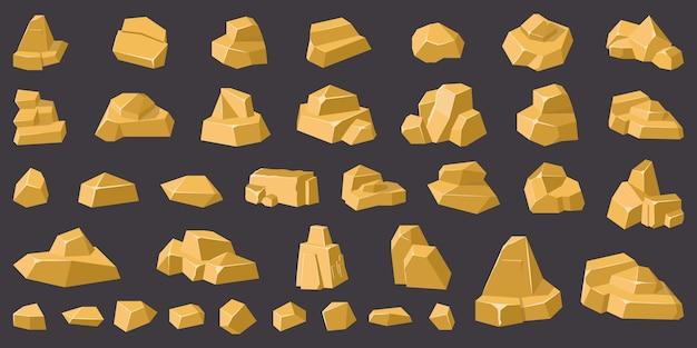 Ilustración de guijarros de montaña de geología