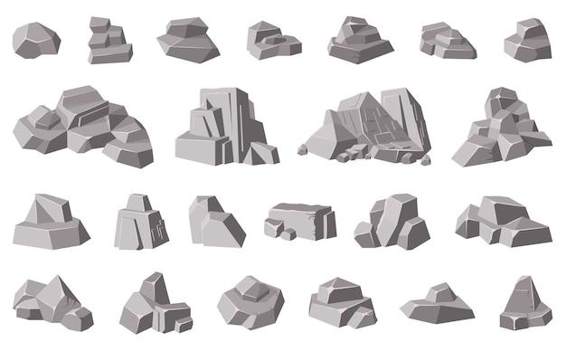 Ilustración de guijarros de montaña de granito