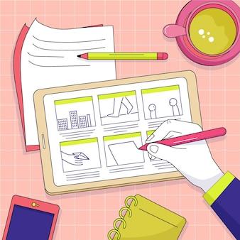 Ilustración del guión gráfico
