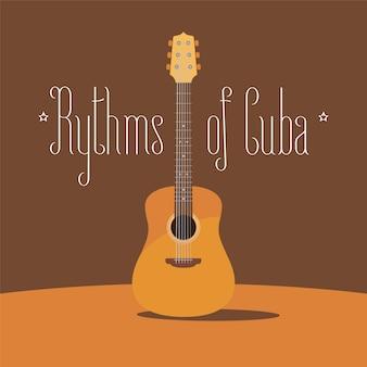 Ilustración de guitarra acústica cubana