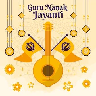 Ilustración de guru nanak jayanti