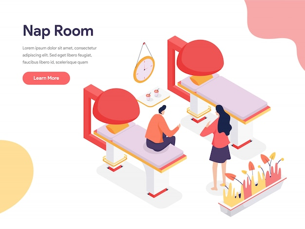 Ilustración de la habitación de la siesta