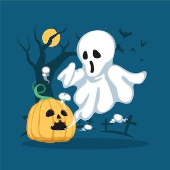 Ilustración de halloween plana