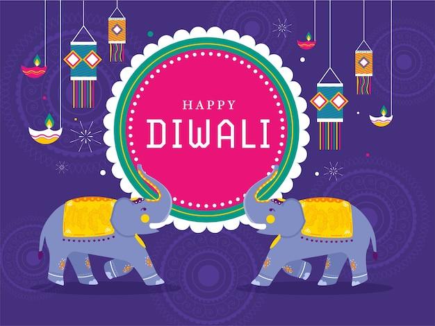 Ilustración de happy diwali concept